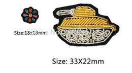 Wholesale New Pin Badges - 2017 New High quality 3D HAND EMBROIDERED Panzer Flowers PIN Jewelry Patches Badge France BULLION WIRED BLAZER BROOCHES
