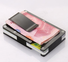 Wholesale Aluminum Business Card Box - Money Clip Business Stainless Steel Business Card Holder Aluminum Credit Card Box
