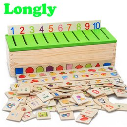 Wholesale Numbers Puzzle - Montessori Puzzle Games Learning Toys Knowledge Classification Box Wooden Toys Educational Number And Animal High Quality