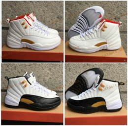 Wholesale Chinese Canvas - High Quality Retro 12 Chinese New Year 3M Reflect Men Basketball Shoes 12s Taxi White Black Gold Athletics Sneakers New Shoes