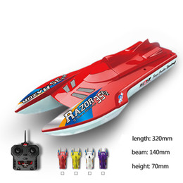 Wholesale Aurora Models - Wholesale- 2.4G Electric RC Speed Boat Aurora Assembled Model Educational Toy