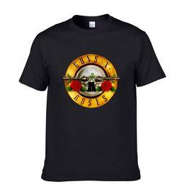 Wholesale Organic Mens Shirts - Black Fashion Summer 3D Printed Mens GUNS N ROSES Printed Cotton T shirt Short Sleeve Casual Hip Hop Rock Top Tees Plus Size