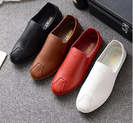 Wholesale Open Shoes Trend - New 2017 casual shoes Korean trend of men's shoes feet small white shoes wild flat students single