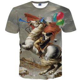 Wholesale Knight Brand Shirts - 3D T shirts New Fashion Men's T-shirt Summer Tops 3d Print Horse Knight Brand Clothing 3d T-shirt Tees T shirt