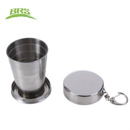 Wholesale Pounds Cups - BRS Bottle 60ML 140ML 250ML Aluminum Alloy Collapsible Cup Portable Drinks Sugar Seasoning Storage Bottle Can for Travel Outdoor +B