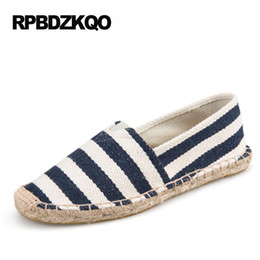Wholesale American Flag Canvas Shoes - Retro Canvas Shoes Striped 11 Rope Size 44 Loafers Straw Espadrilles 10 American Flag Latest Large Hemp Black And White Flats