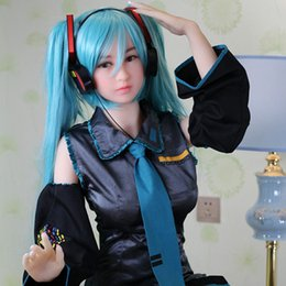 Wholesale Silicone Love Doll Oral - 165cm Japanese Hatsune Miku Full Body Sex Dolls With Skeleton Adult Oral Love Doll Vagina Real Pussy Fake Ass Sex Product Toy