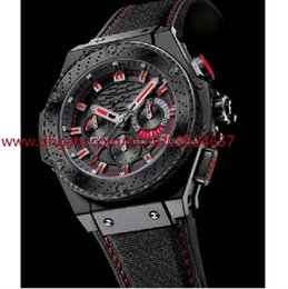 Wholesale King Sapphire - 2016 Men's style Top Quality Classic Series Brand New King Power F1 Black Ceramic 48mm Mens Quartz Watches Sport Wrist box