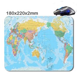 Wholesale Small Notebook Computers - Desktop computer desk, notebook, map of the world game mouse pad, can also be used as a advertising mouse pad and small gifts