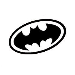 Wholesale Batman Car Window - 15*8CM BATMAN Body Reflective Stickers Cute Cartoon Funny Car Sticker Cover Scratches Motorcycle