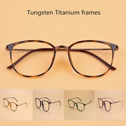 Wholesale Lightweight Prescription Eyeglasses - Tungsten titanium Glasses Frame Men Square Vintage Eyeglasses Frames Women Myopia glasses Prescription Eyewear Optical Glasses