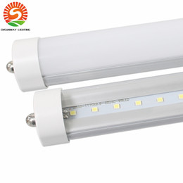 Wholesale Natural Tube Lighting - FA8 8FT cooler lights LED Tube Light 45W T8 2400mm Leds Fluorescent Light Warm Natural Cool White High Quality