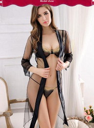 Wholesale Hot Night Club Clothes - Free shipping Hot style Ruffle seduced nylon women's sexy underwear three sets of sexy lace screen clothes for the underwear