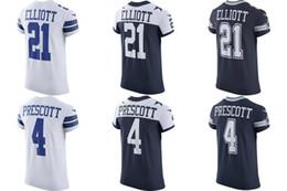 Wholesale Cowboys Elite - 2017 new Tight sleeves Men Vapor Untouchable elite player jerseys cowboys white blue Ezekiel Elliott Dak Prescott Jersey