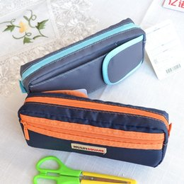 Wholesale Double Zipper Pencil Case - Wholesale- Double Zipper Multifunctional Pencil Case Super Large Capacity Stationery Bags Box School Officel Supplies 0032