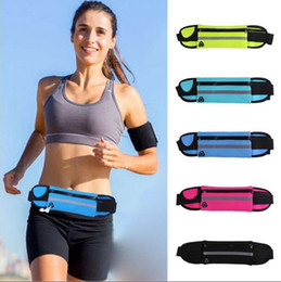 Wholesale Cellular Phones Wholesale - Waterproof Waist Bag For Outdoor Running Sport Pack Pouch Water Resistant Cellular Phone Case 8 Colors OOA3757
