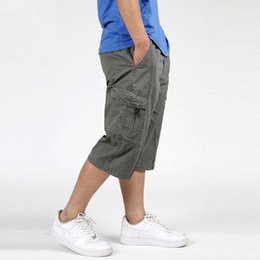 Wholesale Combat Cargo Shorts - Wholesale-Mens Cargo Shorts Combat Brand Overall Big Large Plus Size XXXL 4XL 5XL 6XL Man Trainings Summer Army Green Shorts Male Clothing