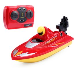 Wholesale Huanqi Toys - Wholesale- New RC Boat Outdoor Children Toys Radio Control RC 2 Channels Waterproof Mini Electric Boats Speed Boat Airship HUANQI 958A