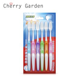 Wholesale Health Degrees - 6 Piece bag Health Care Toothbrush Soft brush head Filaments Handles 80 degree toothbrushes heat resistance tooth brush MT054