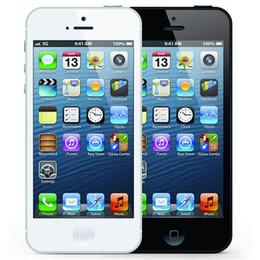 Wholesale Mobile 1g Ram - Refurbished Original Apple iPhone 5 16GB 32GB 64GB 4.0 inch Dual Core 1G RAM IOS8 3G 8MP 1080P Unlocked Mobile Smart Phone Free DHL 5pcs