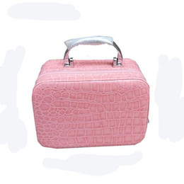 Wholesale Makeup Train Cases - Fashion Makeup Boxes Cosmetic Bag Admission Package Jewelry Cases Necklace Storage Box Korean Cosmetics Pouch Handbag Travel Train Cases