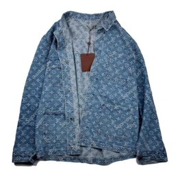 Wholesale Trendy Down Jackets - supre X L V union Trendy coat denim jacket shirt Autumn winter style supre Limited release