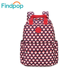 Wholesale Pretty Backpacks - Wholesale- Pretty Style Red Monkey Design Canvas Simple Women Backpack Middle School Student Book Bag Leisure Backpack