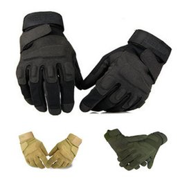 Wholesale Finger Man - Blackhawk Tactical Gloves Outside USA Sports Glove Leather Combat Army Full Finger Gloves Hunting ridingFree Shipping