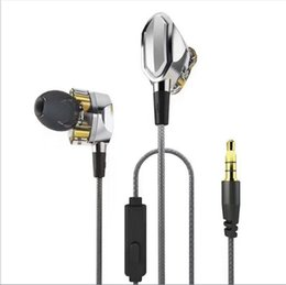 Wholesale Lg Monitors - Top Quality Double Circle HIFI Metal Earphones In Ear Subwoofer Monitor Earbuds With Retail Package V1 V1S