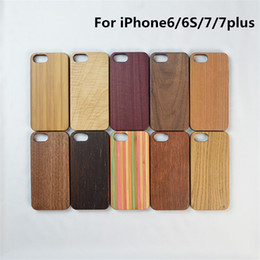 Wholesale Shell Smart Phone - Natural Wooden phone case for iphone7 7plus Universal Style smart phone cover TPU shell for iphone