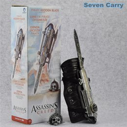 Wholesale Neca Assassins - NECA Crazy Toys Assassins Creed 4 Four Black Flag Pirate Hidden Blade Edward Kenway Cosplay Action Figure Model Gift CSCB
