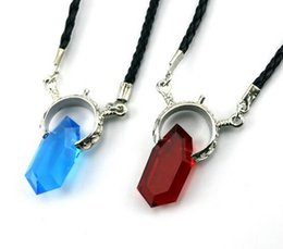 Wholesale Dante Cosplay - Crystal Unisex Dante Pendants Rope Chain Necklaces Trendy Anime Game Necklace Cosplay DMC Devil May Cry 5 Necklaces