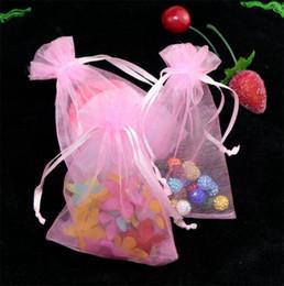 weihnachtsgewebe billig Rabatt Heiße Angebote ! 100 Stück Schmuck Beutel Pink mit Drawstring Organza Geschenk Taschen.7x9cm. 9x12cm 13x18cm. 17x23cm .15x20cm 4641