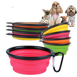 Wholesale Fold Bowl - Pet Products Silicone Bowl Pet Folding Portable Dog Bowls Wholesale For Food The Dog Drinking Water Bowl Pet Bowls