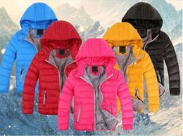Wholesale Cotton Padded Clothes - Wholesale-Retail New clothing Outerwear Boy and Girl Winter Warm Hooded Coat boys Cotton-Padded Down Jacket,Kids duck down coat