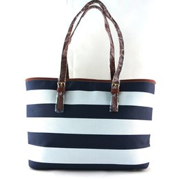 Wholesale Christmas Shopping Free Shipping - Free shipping 2016 new women's handbags perfect quality star with stripes shoulder bag shopping bag large bag