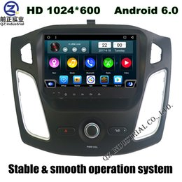 Wholesale Hd Radio Rds - 9inch HD 1024*600 Android 6.0 for Ford Focus 2012-2016 car dvd player with GPS 3G 4G WIFI Bluetooth Stereo Radio DAB+ RDS SWC free map
