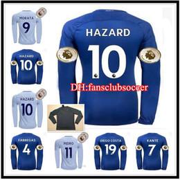 Wholesale Fabregas Jersey - Whosales 2018 Soccer Jerseys home 2017 Long Sleeve Full HAZARD Jersey Football Shirt Pedro KANTE Morata FABREGAS Willian David Luiz