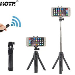Wholesale Wireless Camera Stand - Bluetooth Selfie Stick Tripod All-in-One Wireless Para Selfie Android IOS Self-Timer Stand Holder Display Remote Camera Shooting