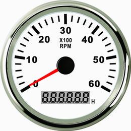 Wholesale Rev Gauge - Waterproof Tachometer REV Counter RPM Gauge Meter With Hour Meter 0-6000RPM For Car Boat 85mm 9-32V With Backlight