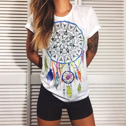 Wholesale Wholesale Designers Clothes - Wholesale- CDJLFH European t shirt for women Summer 2017 Vibe With Me Print Punk Rock Fashion Graphic Tees Women Designer Clothing