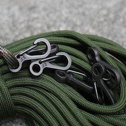 Wholesale Paracord Survival Keychain - 10PCS LOT Mini SF Spring Backpack Clasps Climbing Carabiners EDC Keychain Camping Bottle Hooks Paracord Tactical Survival Gear 20170214#