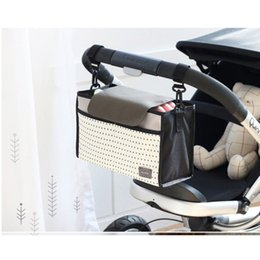 Wholesale newborn baby nappies wholesale - Wholesale- Hot Selling Baby Strollers Accessories Baby Carriage Pram Cart Bottle Diaper Bag Polyester Newborn Nappy Bag Stroller Bag