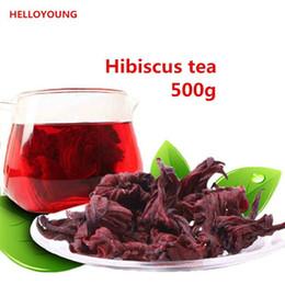 Preferido 500g Chinês Especialidade Chá de Ervas Secas Roselle Novo chá perfumado Cuidados de Saúde Flores Chá Top-Grade Saudável Comida Verde supplier roselle tea de Fornecedores de chá de rosela