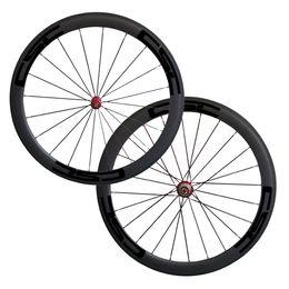 2019 ruota ffwd 38mm 700C 50mm Copertoncino Straight Pull Powerway R36 Rosso / Nero Hub Scegli Road Bike Wheels mozzi in carbonio full carbon CSC bici da strada ruote bici