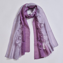 Argentina Verano recién llegado de moda gasa bufandas colores gradiente georgette bufandas de seda femeninas bufandas de gasa para mujeres 65 * 180 cm Suministro