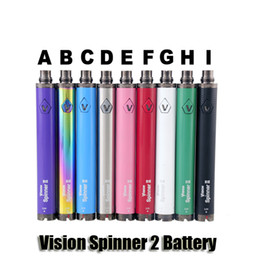 Wholesale Ego Vv Variable Voltage - Vision Spinner 2 II Battery 1650mAh Ego C Twist Variable Voltage VV 3.3-4.8V Electronic Cigarette Battery For Ego Thread Atomizers