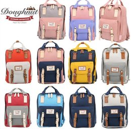Wholesale Totes Vintage Wholesale - Super Quality Doughnut Nylon Waterproof Backpack Luxury Girl's School Bag Vintage Travel Bags Men's Fashion Laptop Backpacks