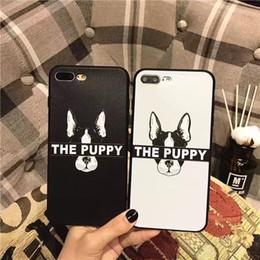 Wholesale Cartoon Couple Korea - For Apple iphone6 6s 6p 6sp, 7 7plus mobile phone case cartoon Japan and South Korea long junk dog couple silicone protective cover