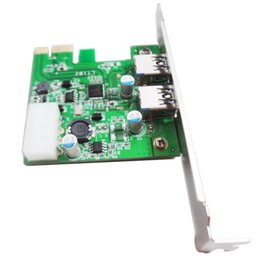 Wholesale External Power Connector - WBTUO LT102 External 2 Port with 4pin Power Connector PCI Express to USB 3.0 Converter Q00432